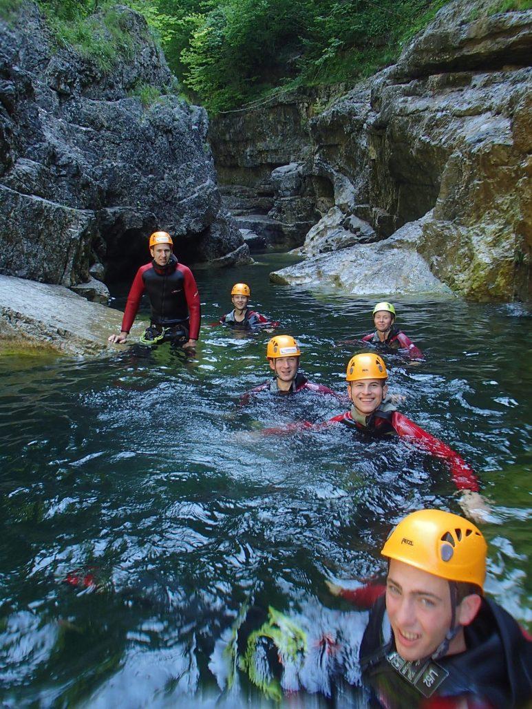 Canyoning als Gruppenausflug