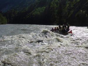 Fetzige Rapids auf der salzach