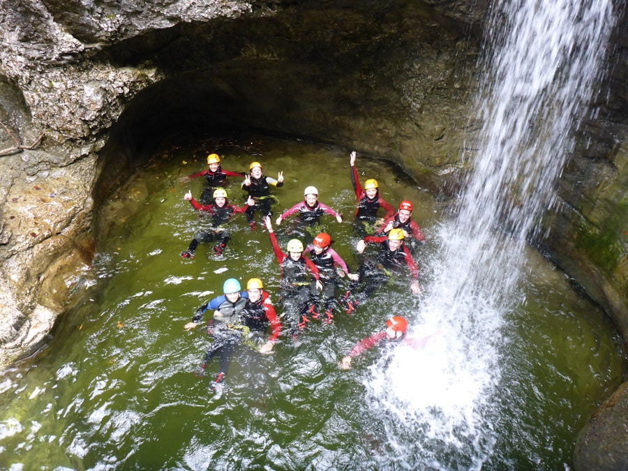 Canyoning with school classes in salzburg