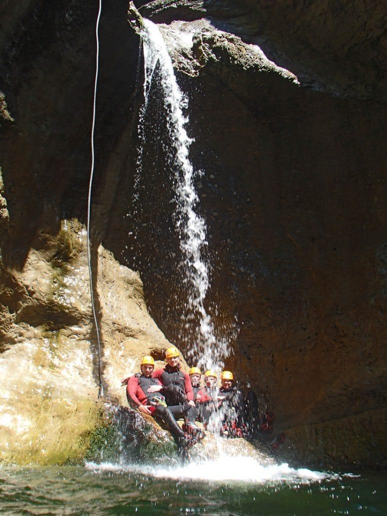 Wasserfälle in der strubklamm beim Canyoning