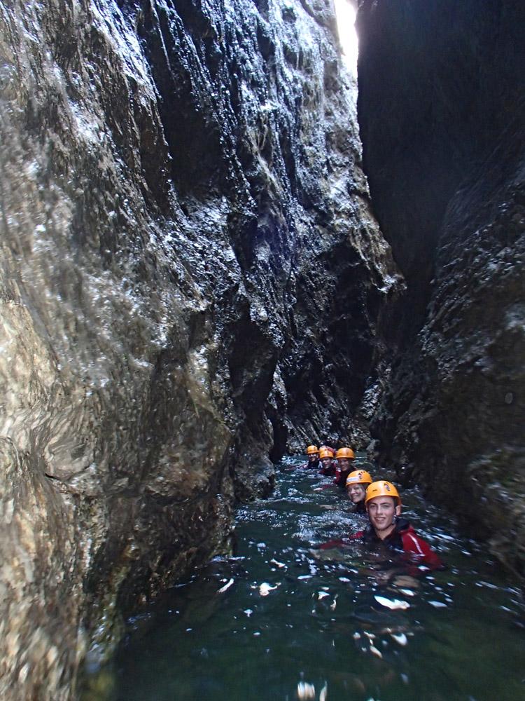 Canyoning Tour 'Jumping Jack Flash' in der strubklamm bei salzburg