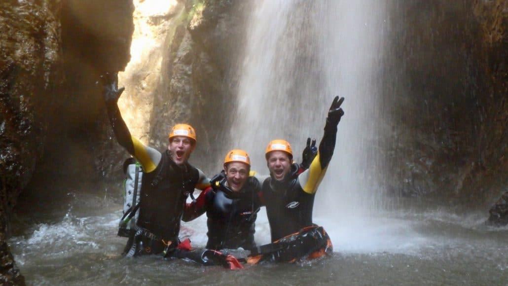Spektakuläre Canyoning tour in der Strubklamm