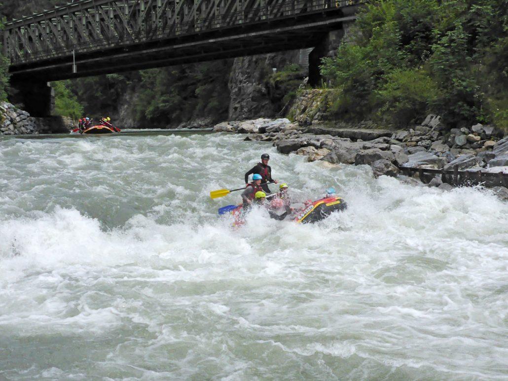 Rafting Salzach: Weißes Wasser auf der Salzach - Rafting mit Crocodile Sports