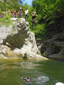 Canyoning für Schulen Salzburg