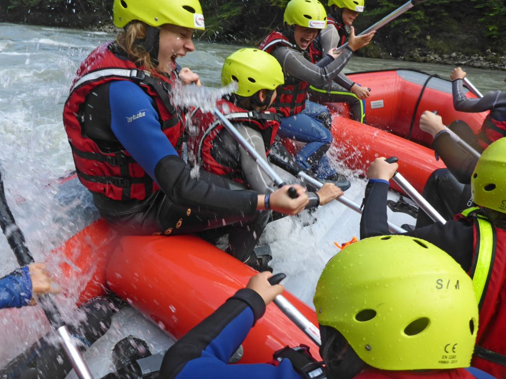 Wild water Rafting and Canyoning for school classes.